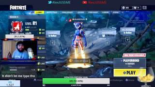 AlexJUSSME LIVE FORTNITE TOURNAMENT + GIVEAWAYS HD 1080P PS4