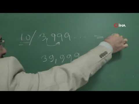 Diyarbakırlı matematik öğretmeni, sayı doğrusundaki sayılar arasında boşluklar olduğunu iddia etti