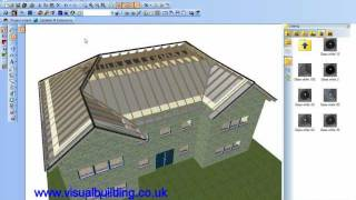 Visual Building: Editing Roof Wood Construction