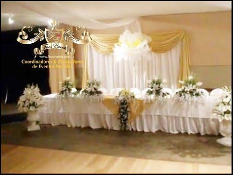 Faos events decoracion color dorado youtube for Decoracion bautizo en casa