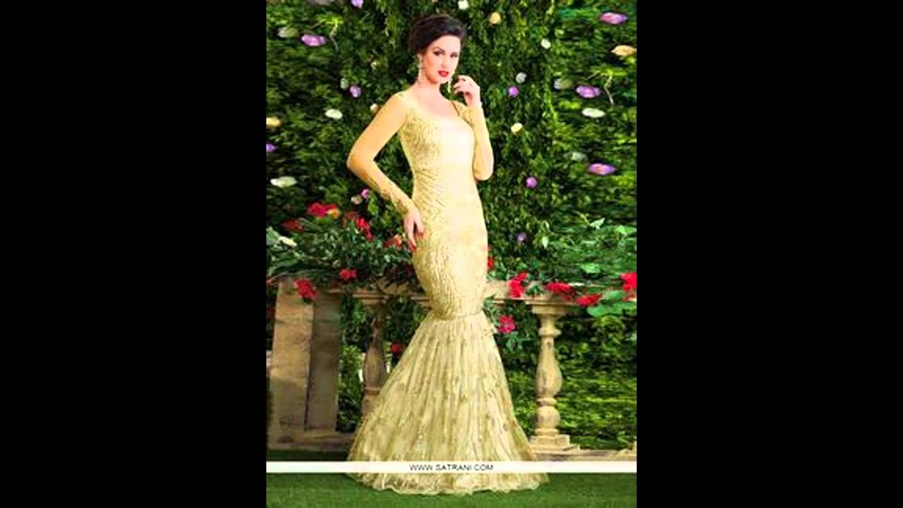 Buy Gowns online  latest women Gown online Shopping India - YouTube