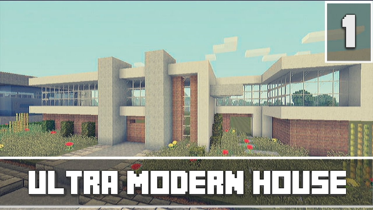 Minecraft Xbox 360Lets Build Part 1 Ultra Modern House YouTube