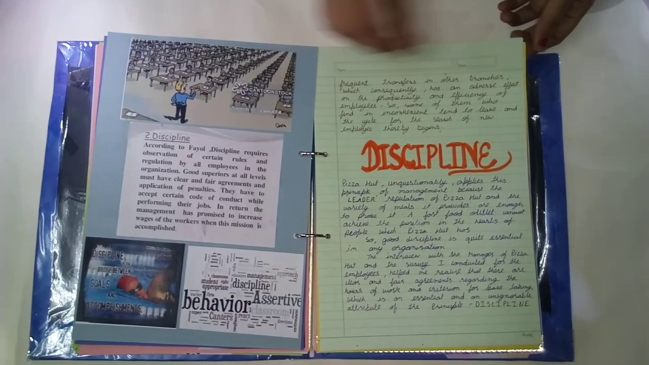 Project on principles of management
