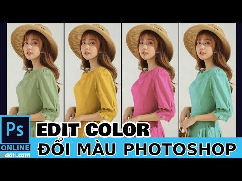 Cách đổi màu sản phẩm trong photoshop online