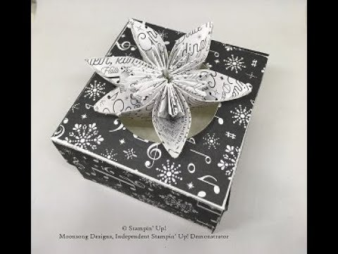Flower Box made with Merry  Music Speciality Designer Series Paper