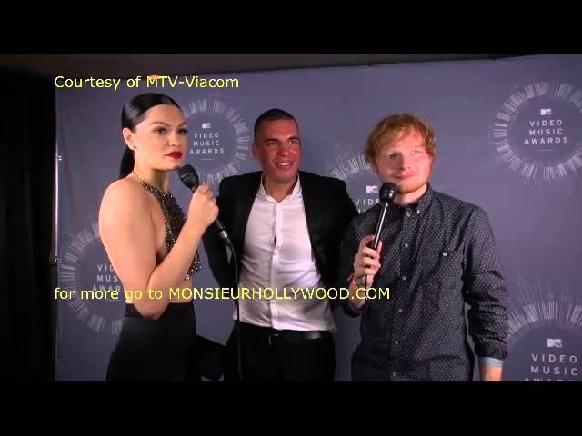 Ed Sheeran, Jessie J, Rita Ora together MTV Vmas