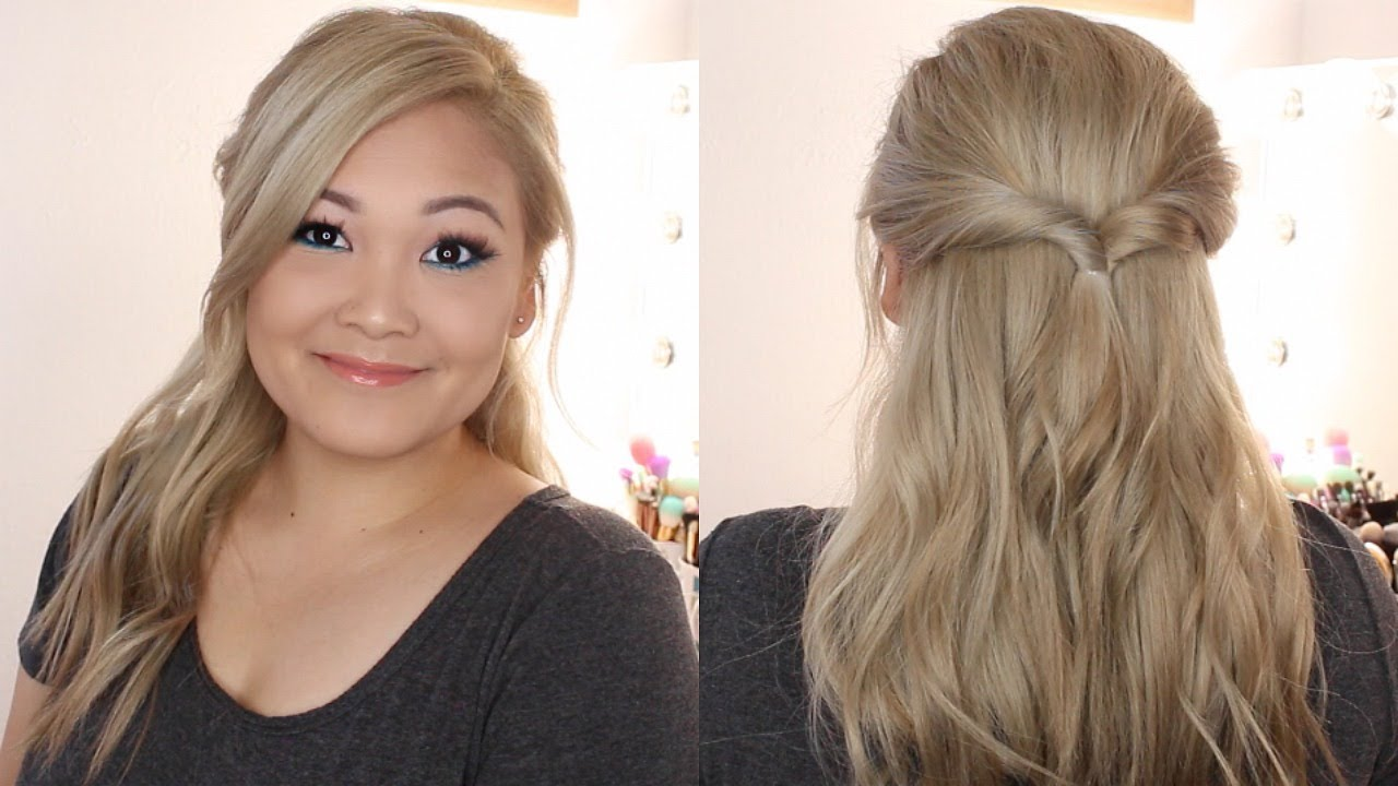 The Easiest Half Up Half Down Hairstyle Ever