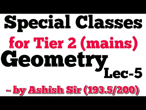 SSC CGL MAINS (MATHS) SPECIAL CLASSES lecture-5 GEOMETRY (150 questions series)
