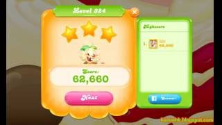 Candy Crush Jelly Saga - Level 324 (3 star, No boosters)