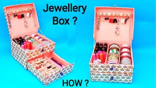DIY : How to make Bangle box at home with cardboard box | Best out of waste | Easy Jewellery box