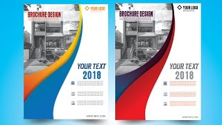 how to make Brochure Design in CorelDraw x7 6 by as graphics