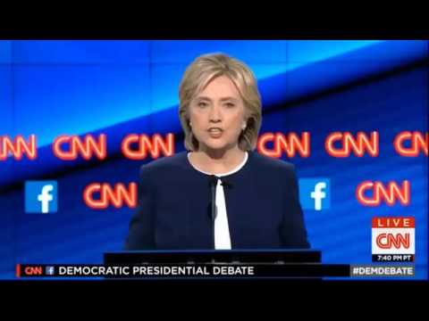 Hillary Clinton on Climate Change at First Democratic Presidential Debate