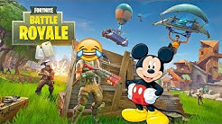 Mickey Mouse Plays Fortnite Funny Voice Troll 😂