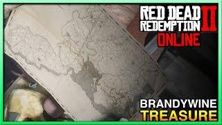 BrandyWine Drop Treasure Map Rank Up - Red Dead Redemption 2 Online - RDR2 Online Treasure