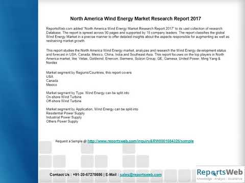 North America Wind Energy Market New Project SWOT Analysis 2017
