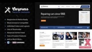 Preview Carpress WordPress Theme For Mechanic Workshops TF