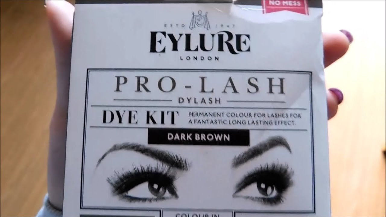 Tutorial How To Dye Your Eyebrows Eylure Dylash Youtube
