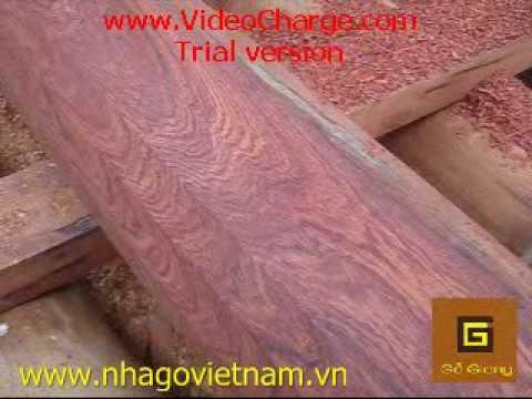 Nghề Mộc Việt Nam - Cách Bào Cột Gỗ Hương - Nhà Gỗ Hương - Nhà Gỗ Việt Nam