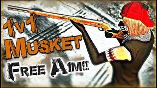 GTA 5 Online - 1v1 Musket FREE AIM + Funny Bonus Clips!