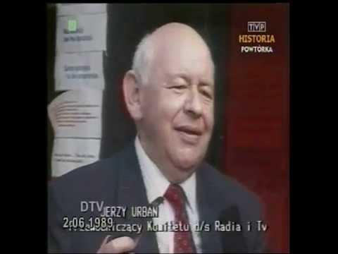 PRL 1989 Urban wieszczy powstanie tvn24, TVPinfo, Polsat News