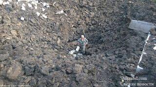 Страшный удар по жилому сектору. Шахтерск. 4.08.2014
