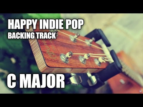 Happy Indie Pop Guitar Backing Track In C Major