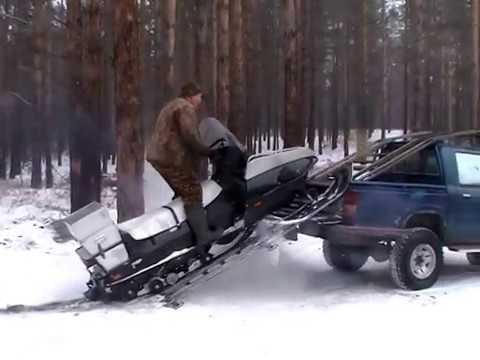 Снегоход Ямаха Викинг погрузка на А/М тойота Хайлюкс
