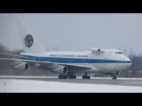 Pratt & Whitney Canada 747-SPB5 arriving at YMX on 24