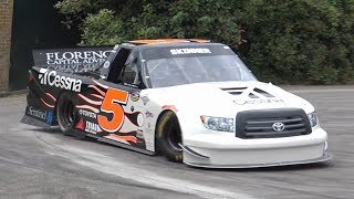NASCAR Toyota Tundra Pick Up Truck 700HP MONSTER! - Burnouts, Accelerations & INSANE Sounds!