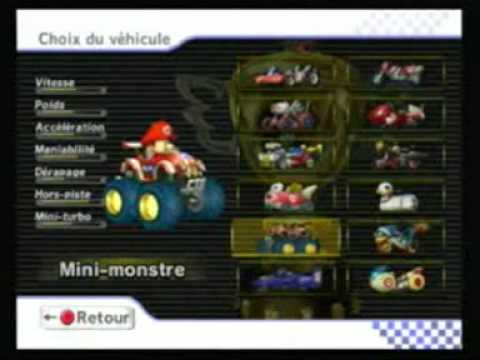 mario kart wii tout les personnages et v hicules youtube. Black Bedroom Furniture Sets. Home Design Ideas