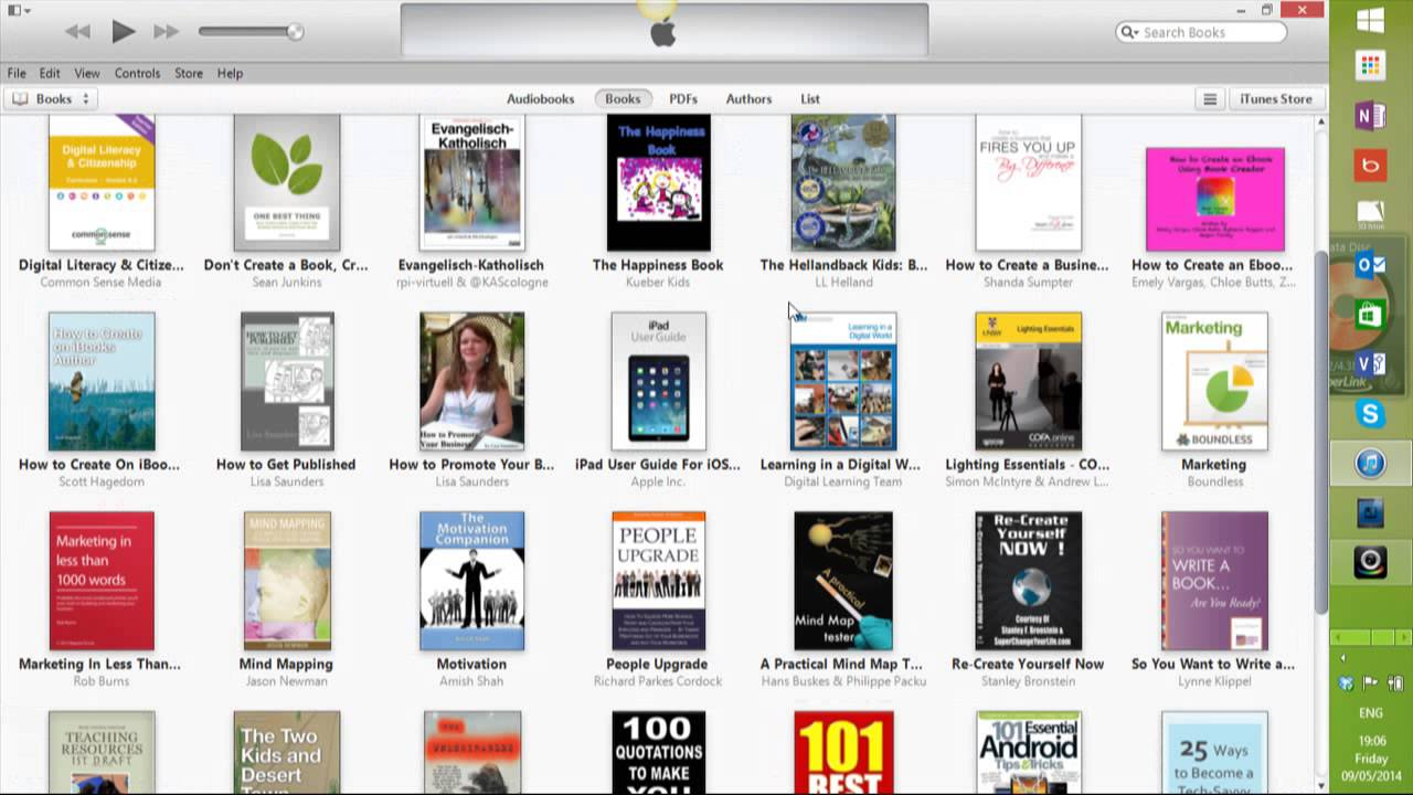 iBook on iTunes transferred to be read on Windows 7 eReader