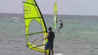 03-20-18 Windsurfers Lessons for two Brothers today PT 2