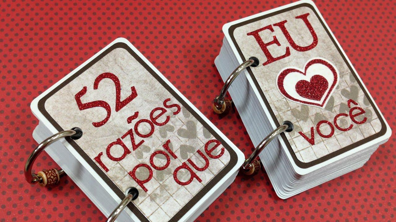 Faça O Presente Para O Seu Namorado Baralho 52 Razões Por Que Eu