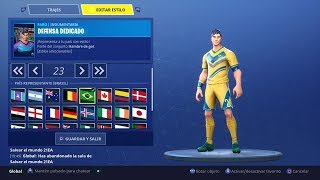 SO IS THE NEW WORLD FOOTBALL SKIN IN FORTNITE ROYALE - WORLD RUSSIA 2018