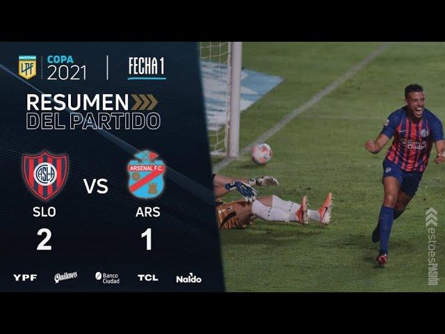 Copa De La Liga   Fecha 1   resumen de San Lorenzo - Arsenal