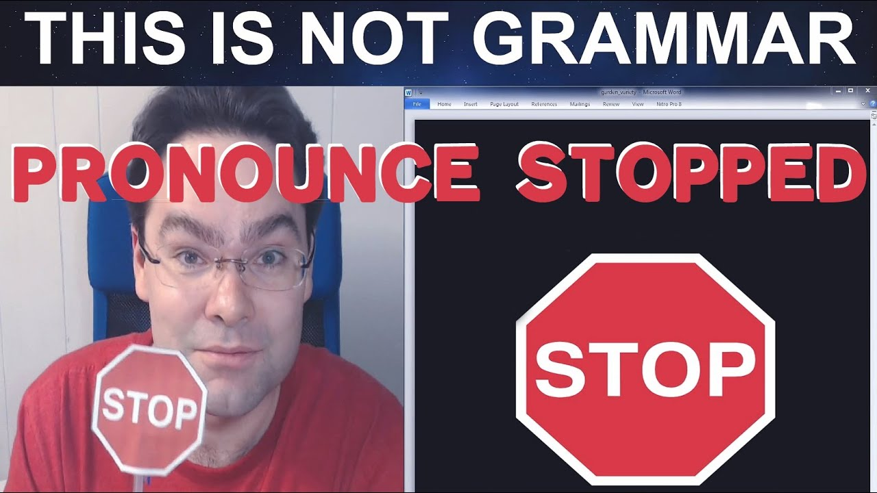 How to Pronounce Stopped Pronunciation the Suffix -ed in English  Pronouncing Simple Past Participle