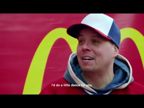 "Zdeno Chara and Hab Fans Have Some Fun In McDonald's ""Love Each Other"" Pop-Up"