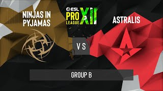 CS:GO - Astralis vs. NiP [Train] Map 2 - ESL Pro League Season 12 - Group B - EU