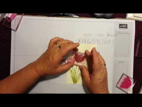 Card Making For Beginners Lesson 2  with Stampin Up! Donna Gray Australia