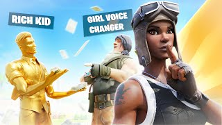 I Girl Voice Trolled a RICH KID as a NO SKIN, then showed the NEW RAREST SKIN... (Fortnite)
