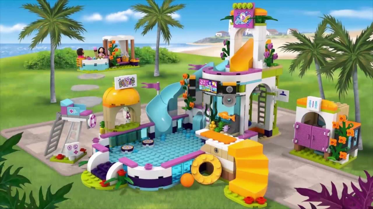 la piscine d 39 heartlake city lego friends 41313 be fr youtube. Black Bedroom Furniture Sets. Home Design Ideas
