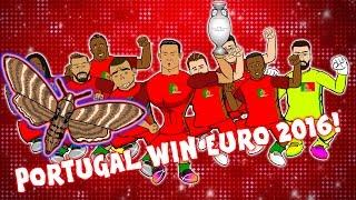PORTUGAL WIN EURO 2016! (Portugal vs France The Final: 1-0 Ronaldo Eder Moth Cartoon Parody!)