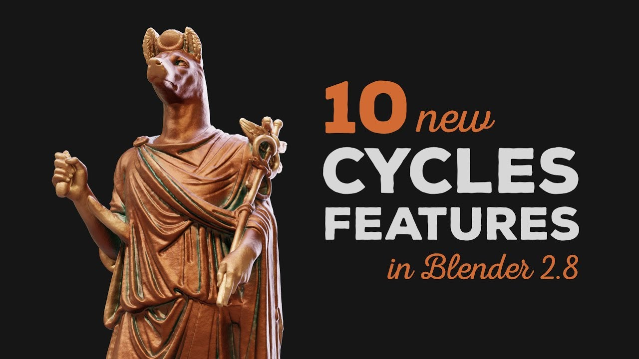 10 New Cycles Features in Blender 2 8 - CG Boost