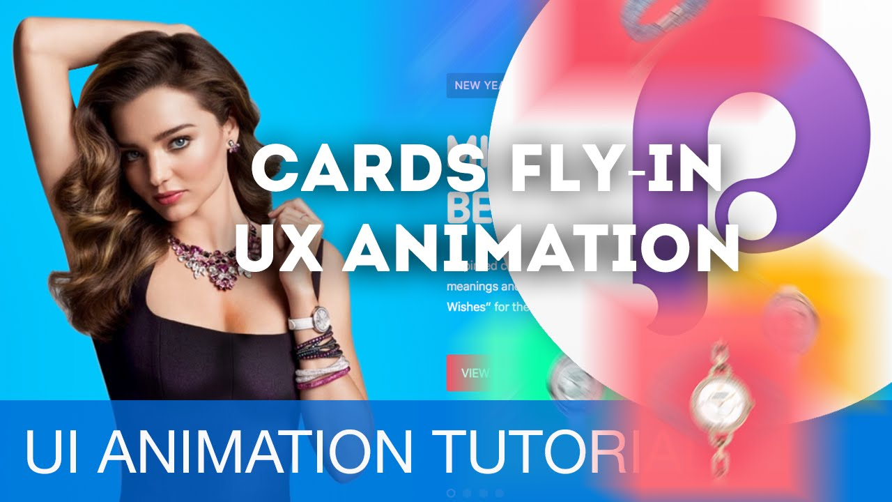 cards fly in ui ux animations with principle sketch tutorial
