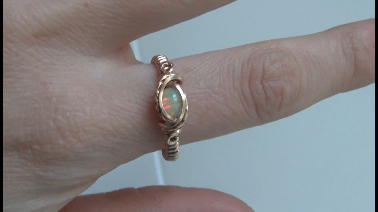 Wire Wrapped Small Cabochon Ring Tutorial - YouTube