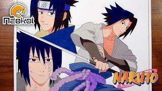 Drawing and Coloring Sasuke Uchiha from Naruto