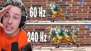FORTNITE 240Hz vs FORTNITE 60Hz(60fps)