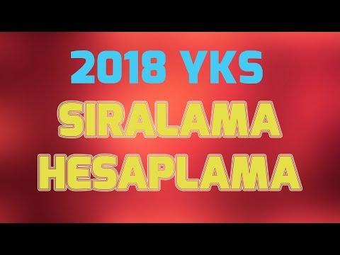 2018 YKS SIRALAMA VE PUAN HESAPLAMA