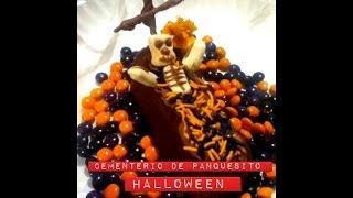 DIY Cementerio de panquesito de chocolate Día de muertos ideas Halloween candy graveyard cake