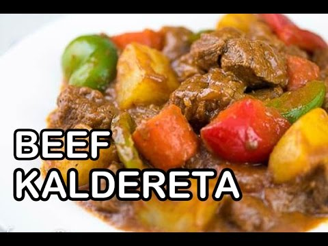 How To Cook Beef Kaldereta | Calderetang Baka Recipe | Panlasang Pinoy